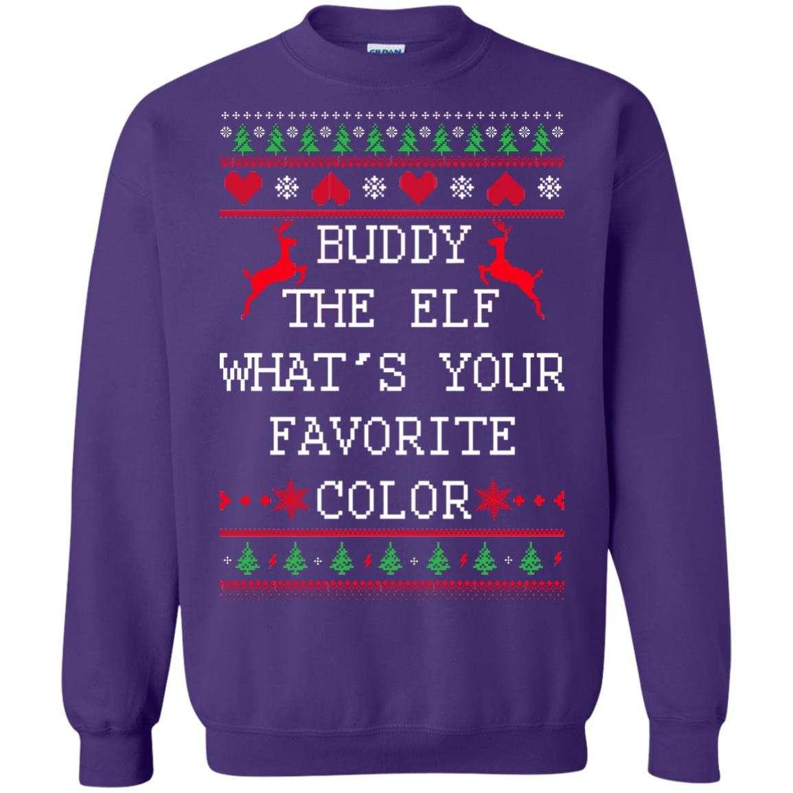 image 586px Buddy The Elf What's Your Favorite Color Christmas Sweater