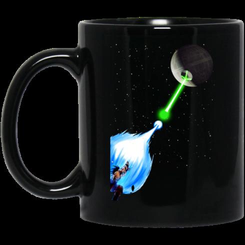 image 6 490x490px Dragon Ball Songoku vs Death Star Coffee Mug