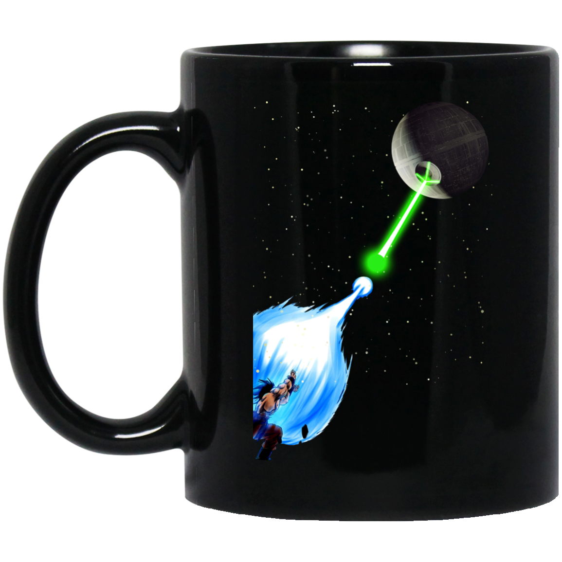 image 6px Dragon Ball Songoku vs Death Star Coffee Mug