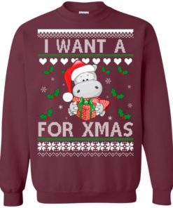 image 606 247x296px I want a Hippopotamus for Christmas Sweater
