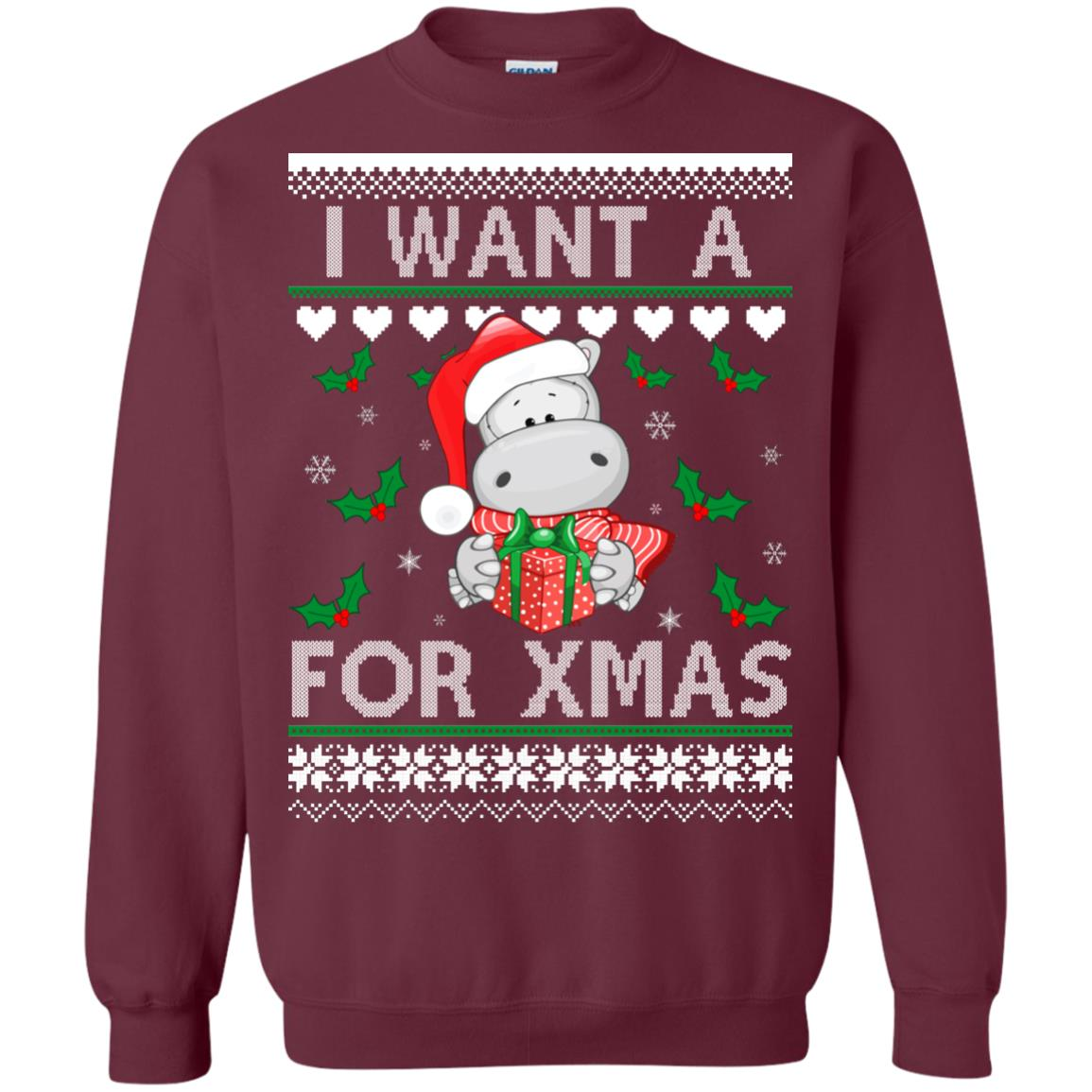 image 606px I want a Hippopotamus for Christmas Sweater