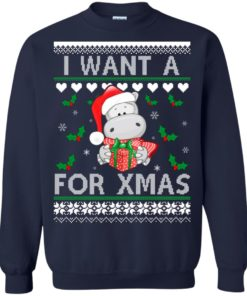 image 607 247x296px I want a Hippopotamus for Christmas Sweater