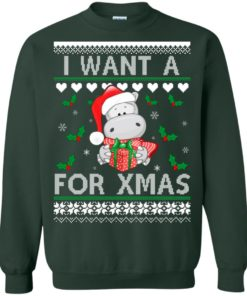 image 608 247x296px I want a Hippopotamus for Christmas Sweater