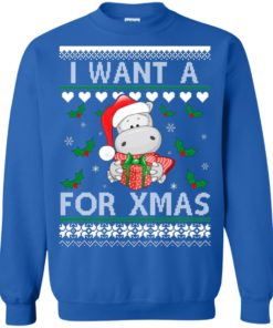 image 609 247x296px I want a Hippopotamus for Christmas Sweater