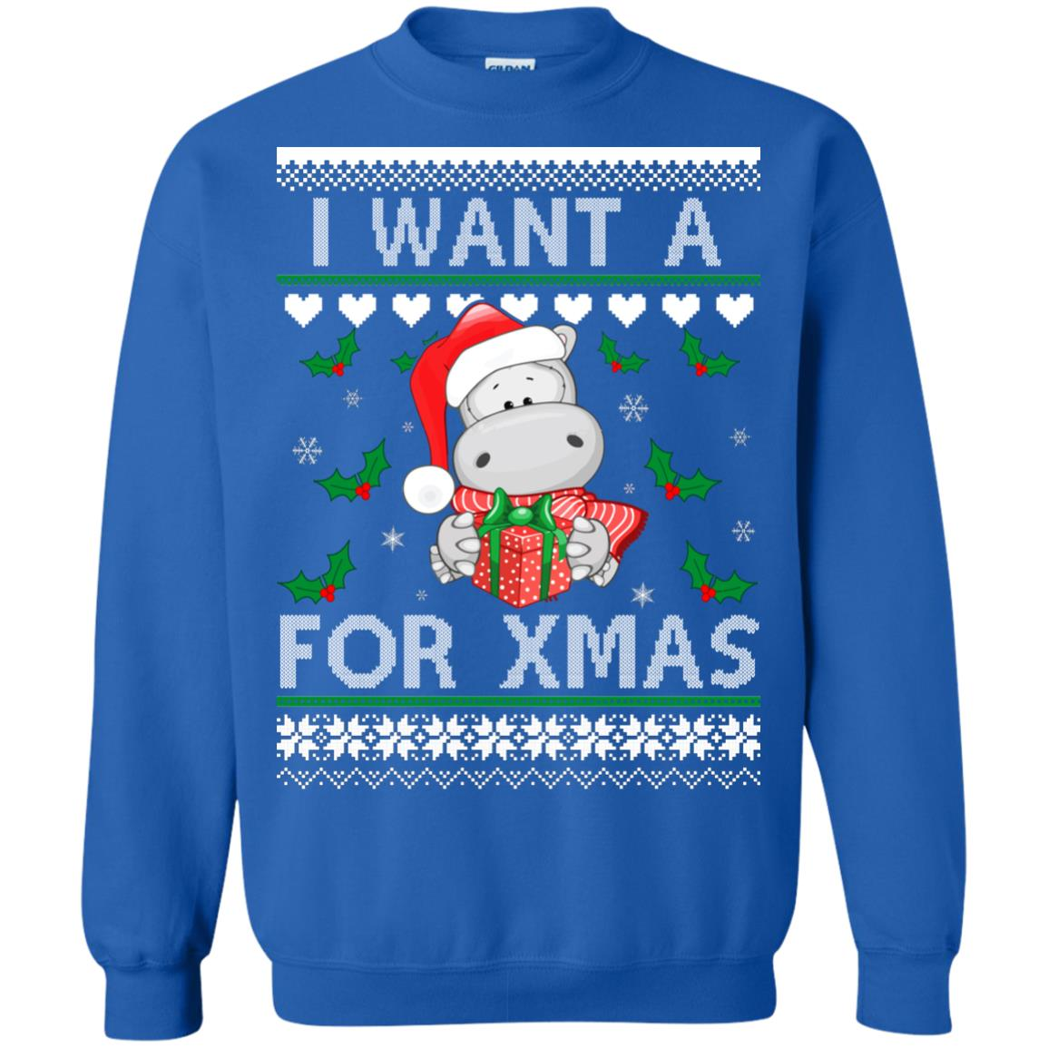 image 609px I want a Hippopotamus for Christmas Sweater