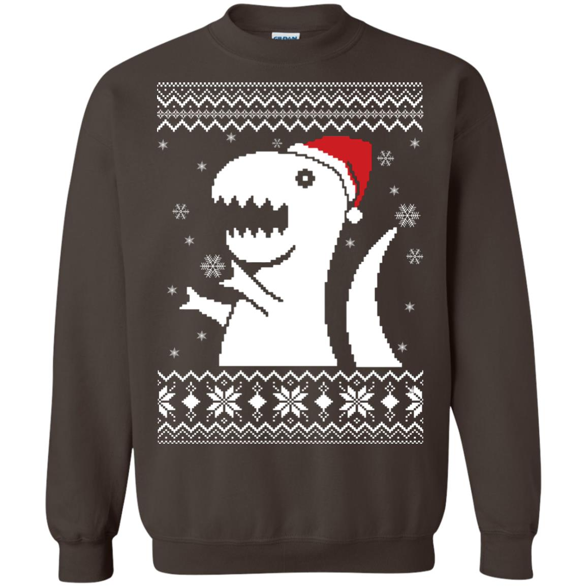 image 663px Big Trex Santa Christmas Sweater
