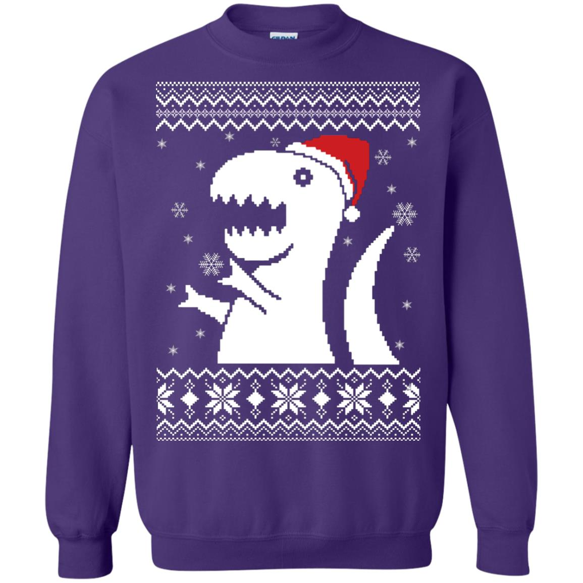 image 664px Big Trex Santa Christmas Sweater