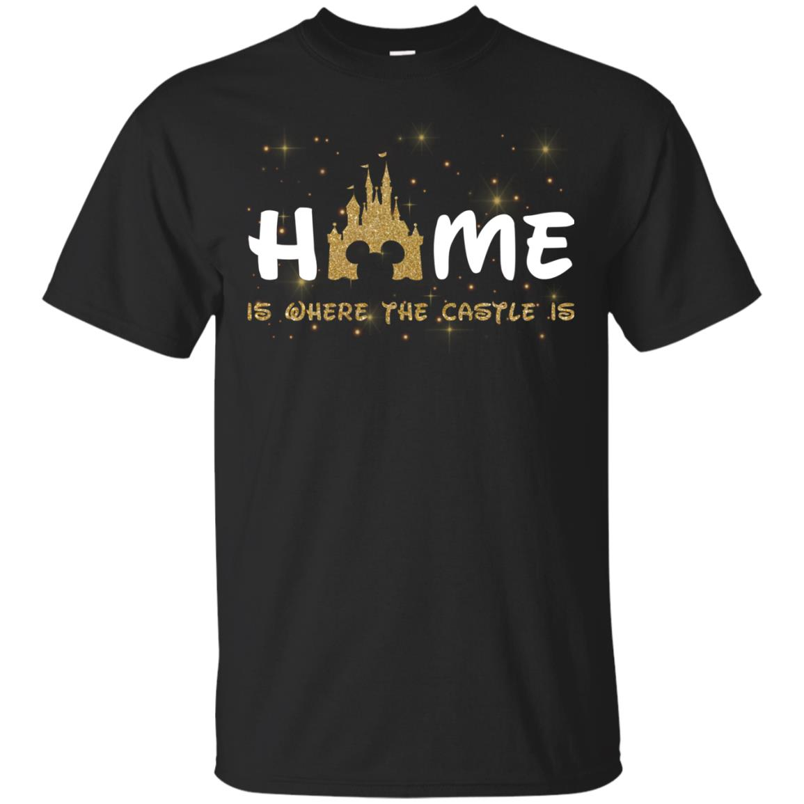 image 673px Disney: Home Is Where The Castle Is T Shirts, Hoodies, Tank Top