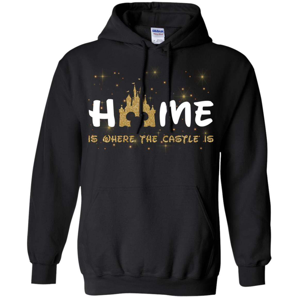 image 677px Disney: Home Is Where The Castle Is T Shirts, Hoodies, Tank Top