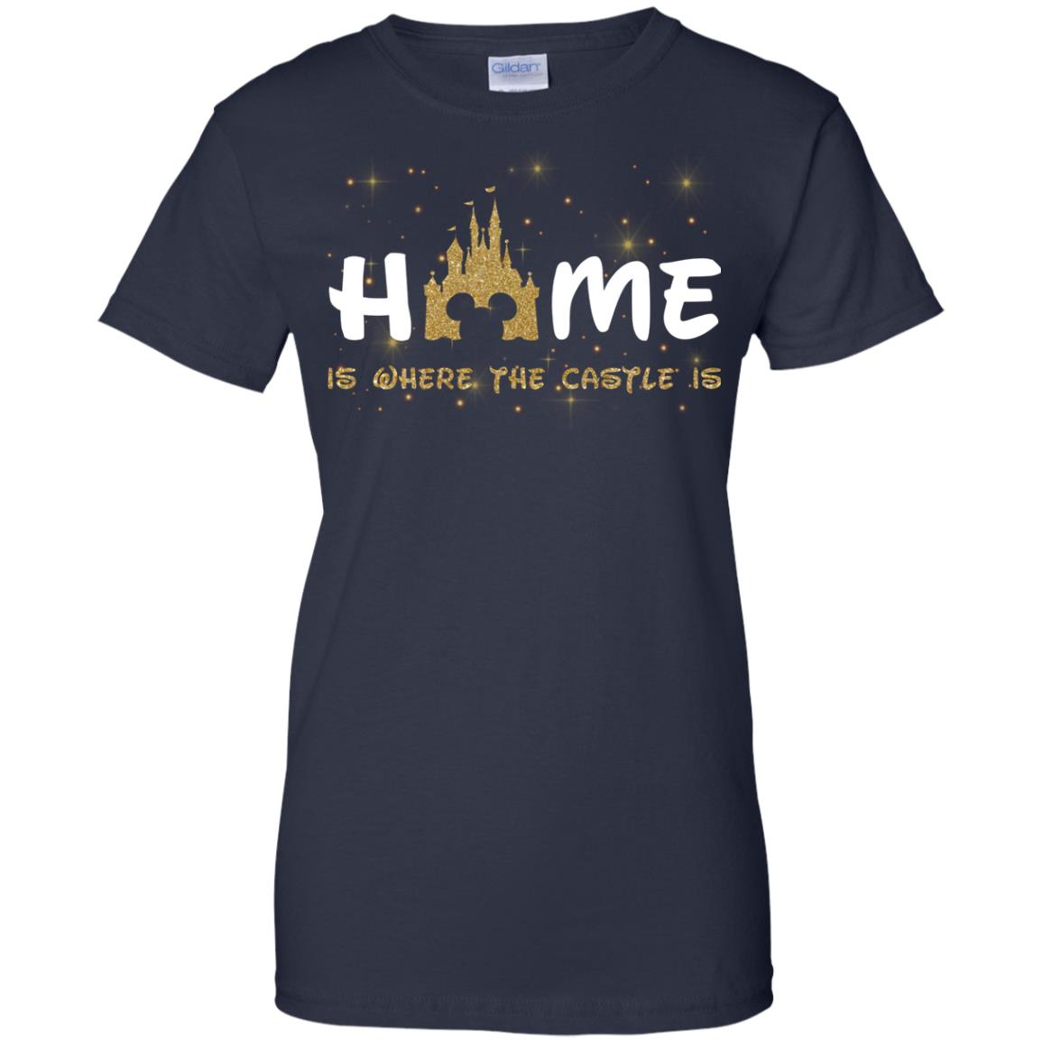 image 680px Disney: Home Is Where The Castle Is T Shirts, Hoodies, Tank Top