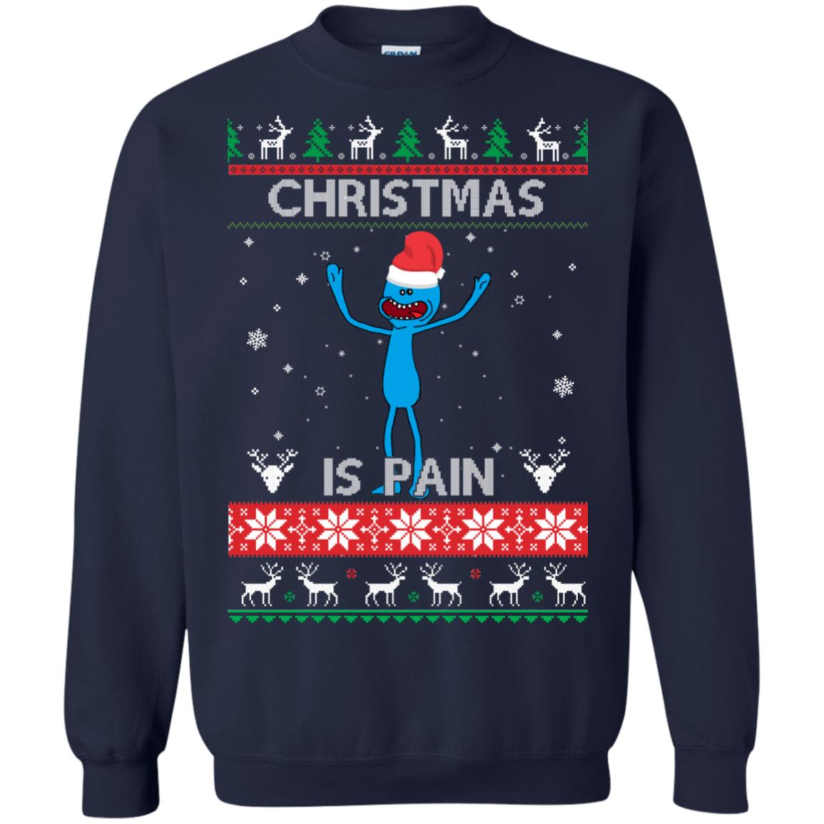 image 699px Mr Meeseeks Christmas Is Pain Rick and Morty Christmas Sweater