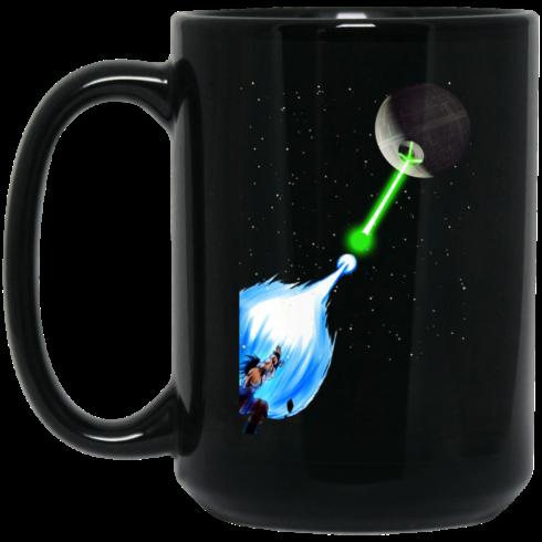 image 7 490x490px Dragon Ball Songoku vs Death Star Coffee Mug
