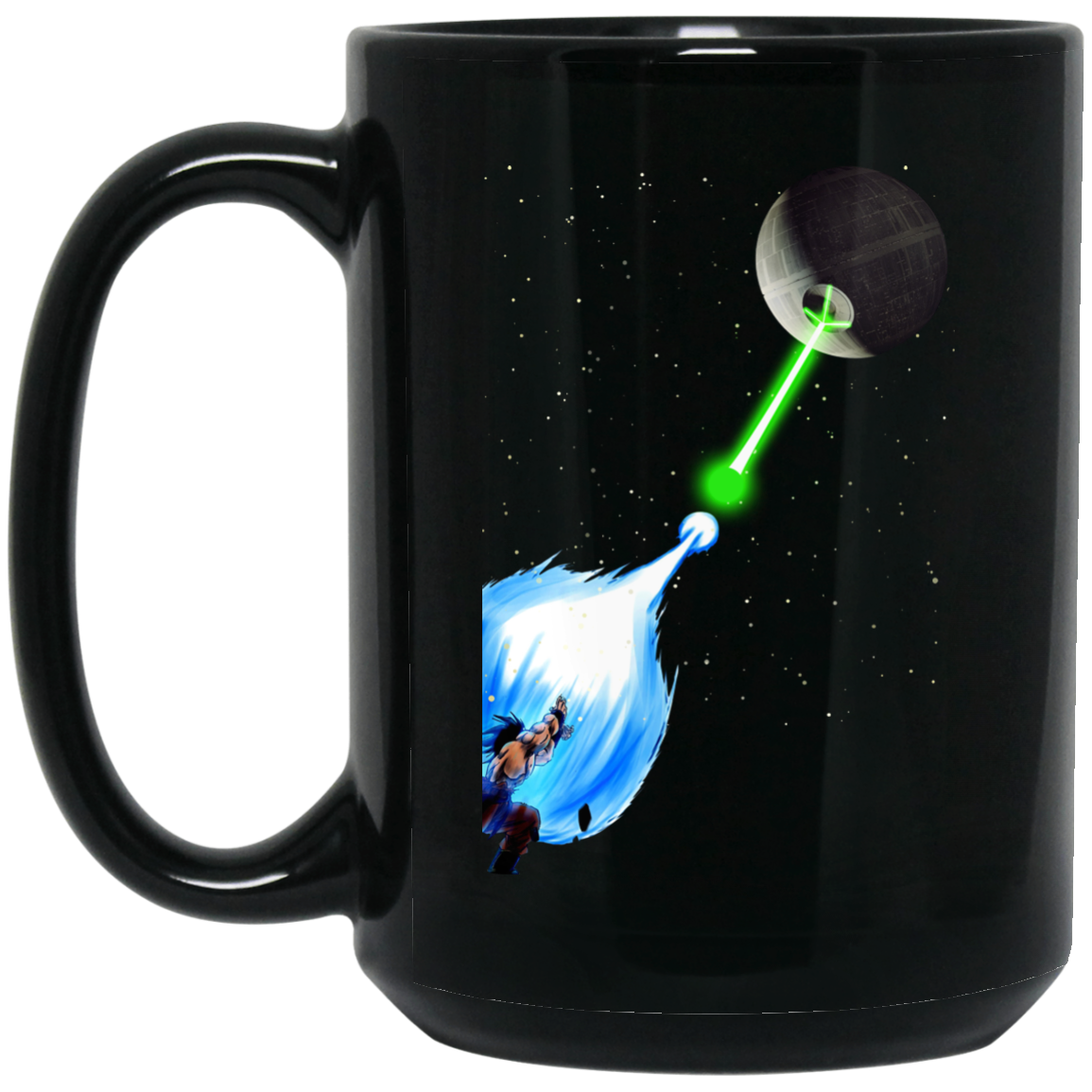 image 7px Dragon Ball Songoku vs Death Star Coffee Mug