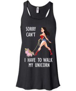 image 70 247x296px Wonder Woman: Sorry Can't I Have Walk My Unicorn T Shirts, Hoodies, Tank
