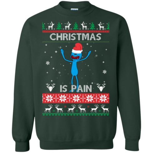 image 700 490x490px Mr Meeseeks Christmas Is Pain Rick and Morty Christmas Sweater