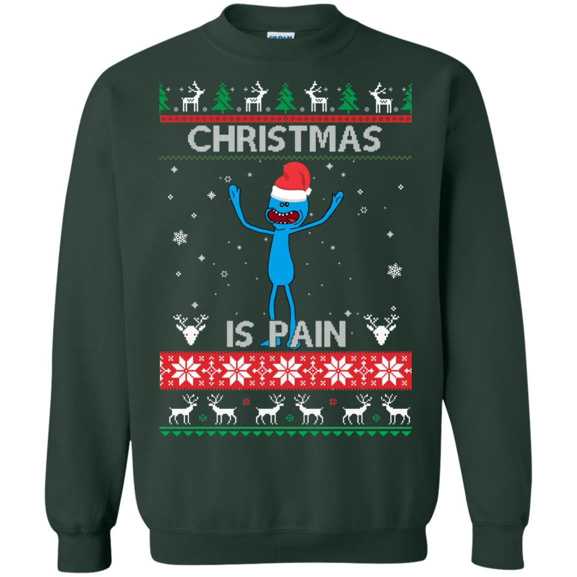 image 700px Mr Meeseeks Christmas Is Pain Rick and Morty Christmas Sweater