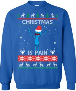 image 701 247x296px Mr Meeseeks Christmas Is Pain Rick and Morty Christmas Sweater
