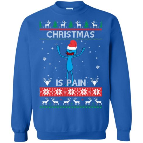 image 701 490x490px Mr Meeseeks Christmas Is Pain Rick and Morty Christmas Sweater