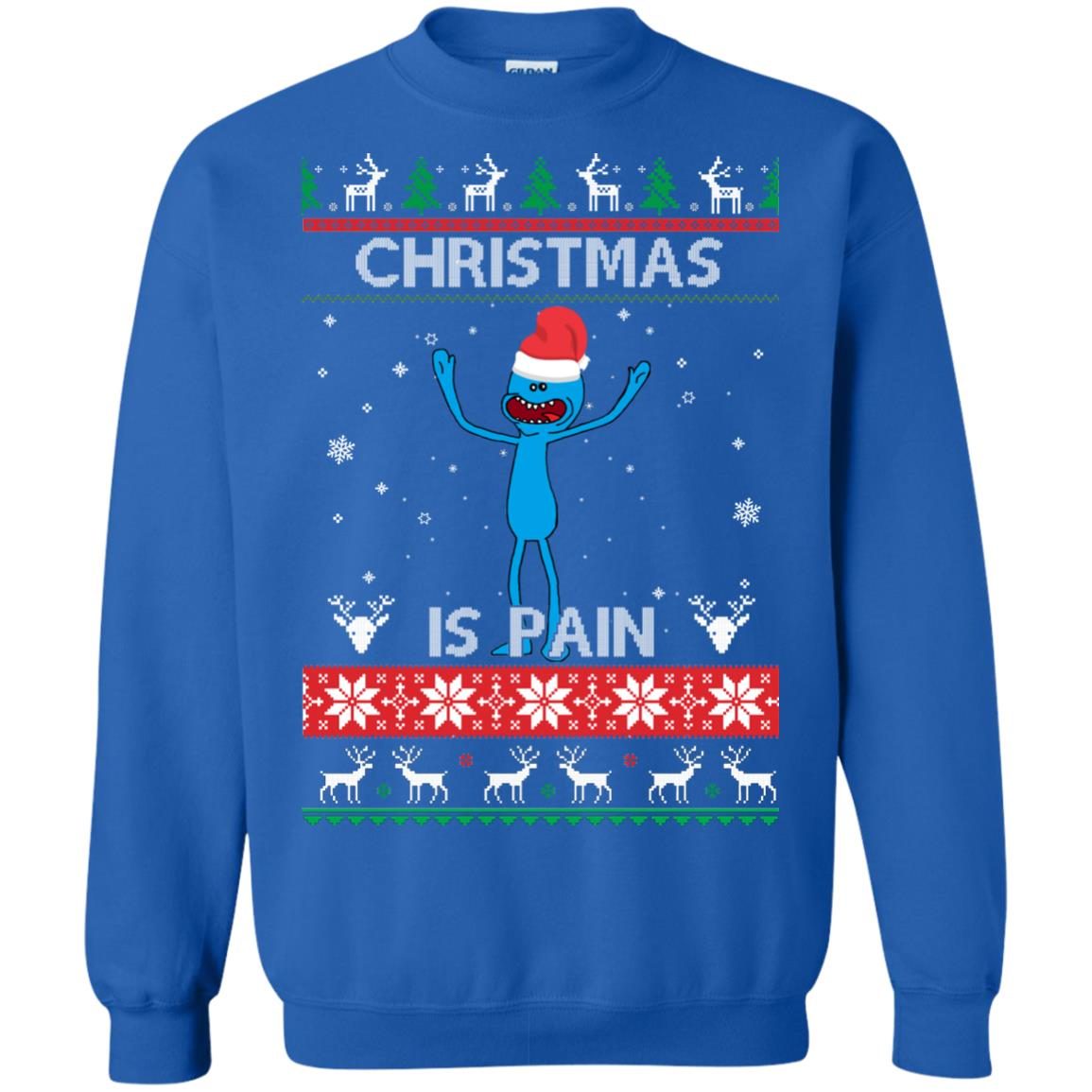 image 701px Mr Meeseeks Christmas Is Pain Rick and Morty Christmas Sweater