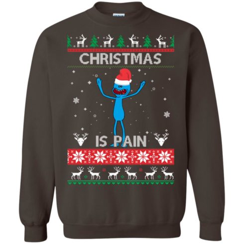 image 702 490x490px Mr Meeseeks Christmas Is Pain Rick and Morty Christmas Sweater