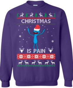 image 703 247x296px Mr Meeseeks Christmas Is Pain Rick and Morty Christmas Sweater