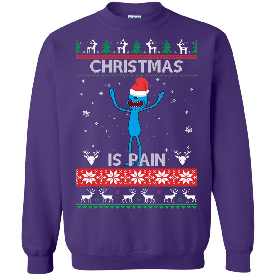 image 703px Mr Meeseeks Christmas Is Pain Rick and Morty Christmas Sweater