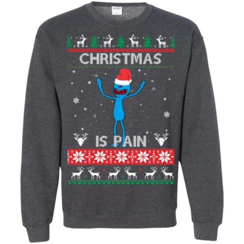 image 704 490x490px Mr Meeseeks Christmas Is Pain Rick and Morty Christmas Sweater