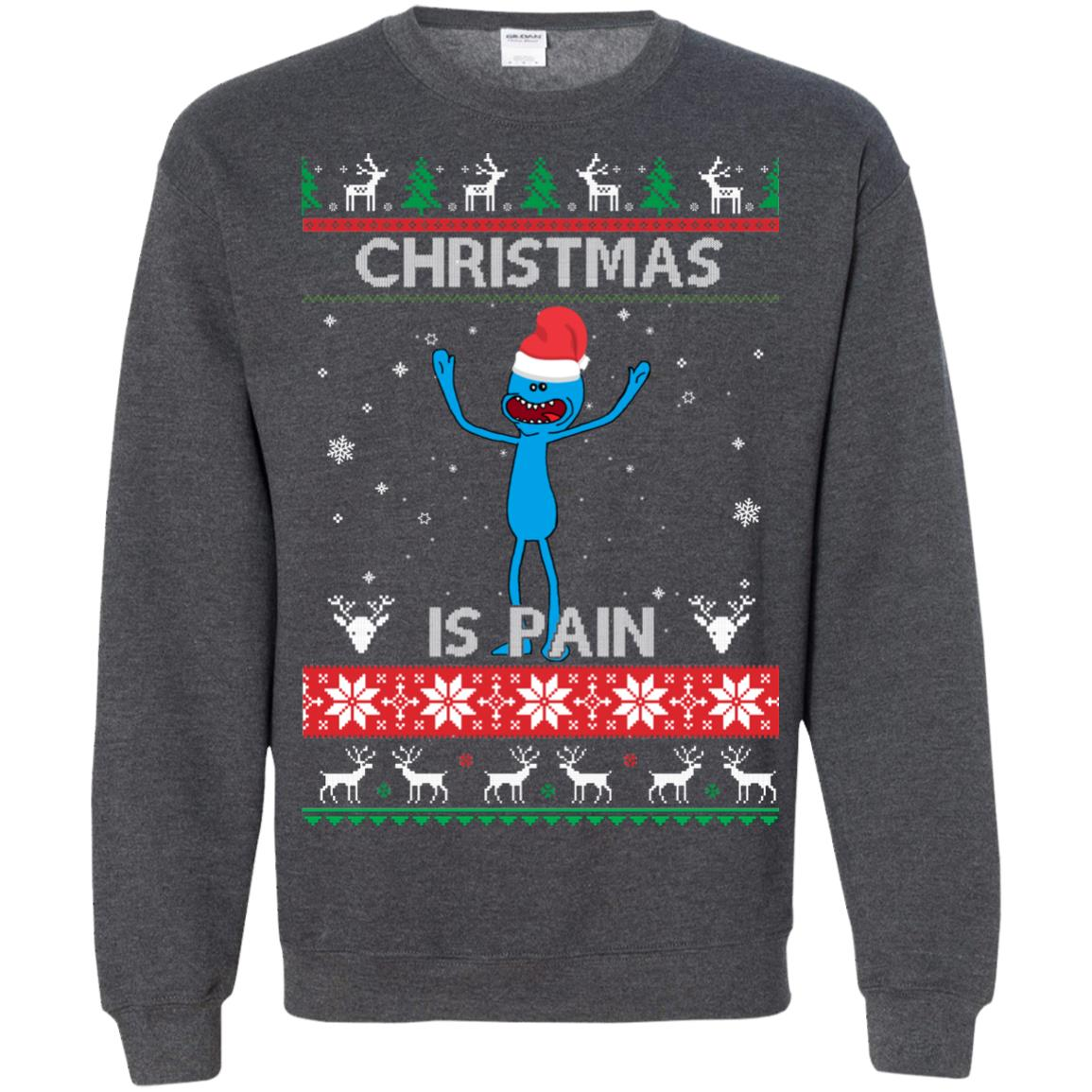 image 704px Mr Meeseeks Christmas Is Pain Rick and Morty Christmas Sweater