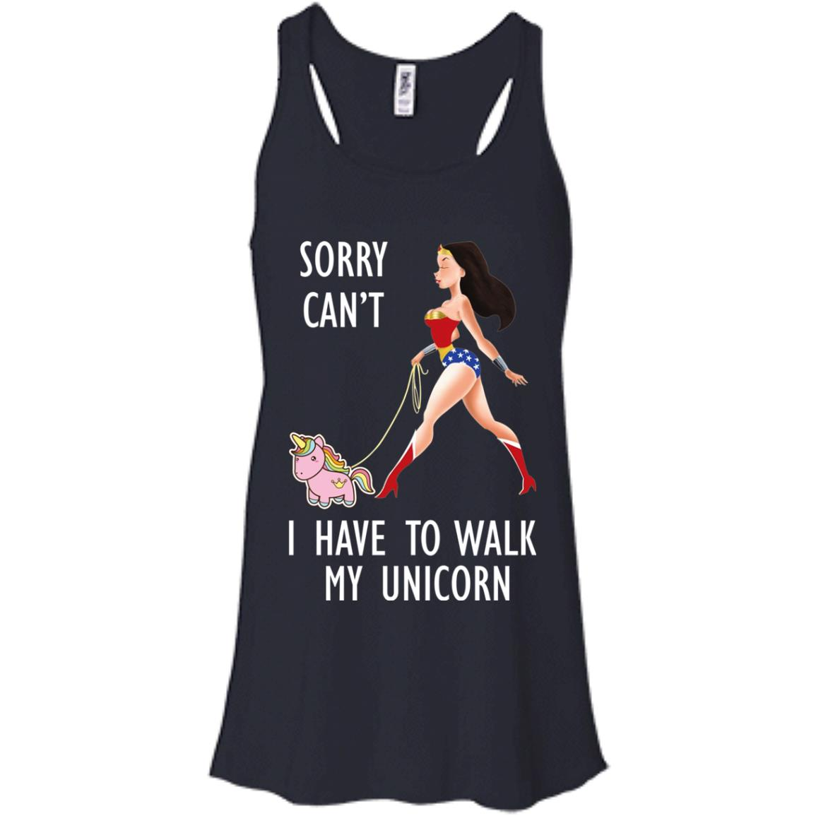 image 71px Wonder Woman: Sorry Can't I Have Walk My Unicorn T Shirts, Hoodies, Tank