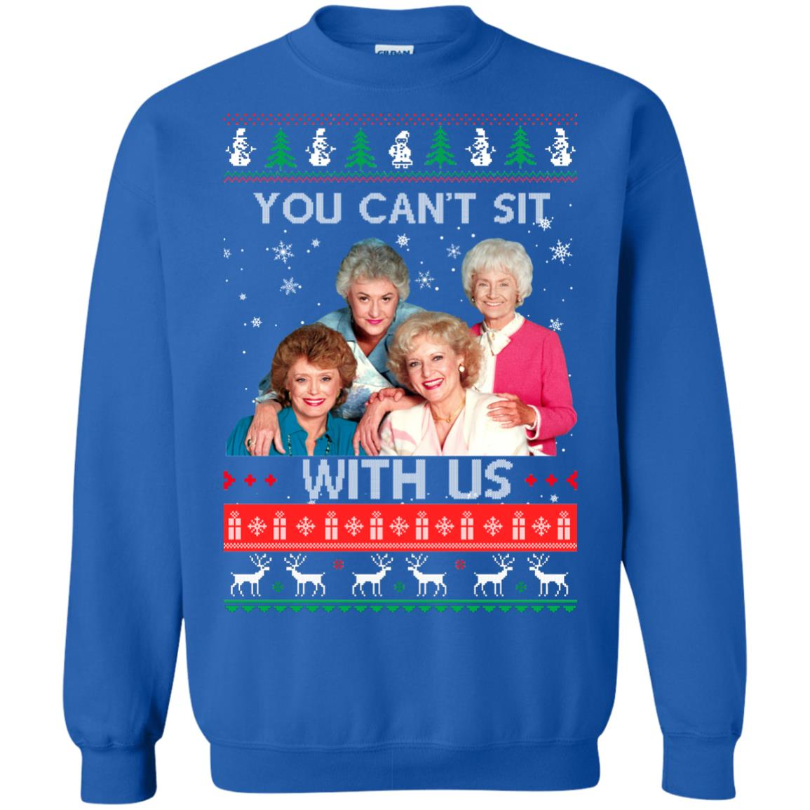 image 717px The Golden Girls: You Can't Sit With Us Ugly Christmas Sweater