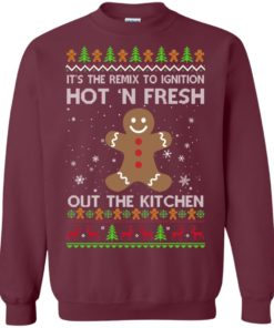 image 738 247x296px It's The Remix To Ignition Hot 'N Fresh Out The Kitchen Christmas Sweater