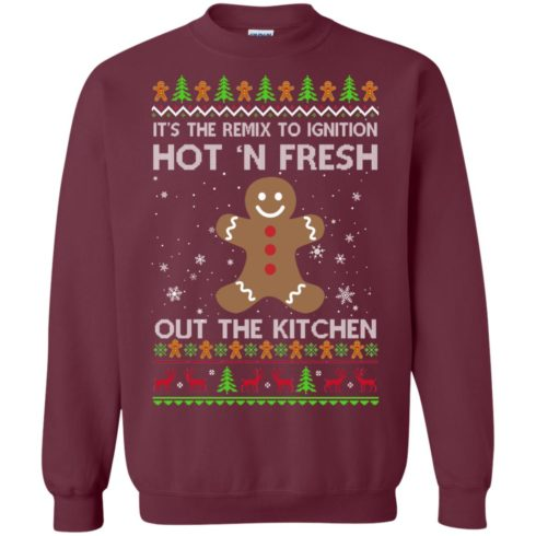 image 738 490x490px It's The Remix To Ignition Hot 'N Fresh Out The Kitchen Christmas Sweater