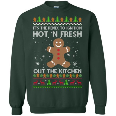 image 740 490x490px It's The Remix To Ignition Hot 'N Fresh Out The Kitchen Christmas Sweater