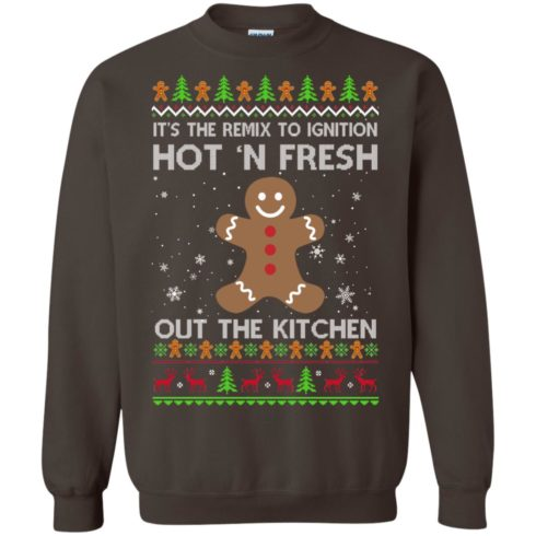 image 742 490x490px It's The Remix To Ignition Hot 'N Fresh Out The Kitchen Christmas Sweater