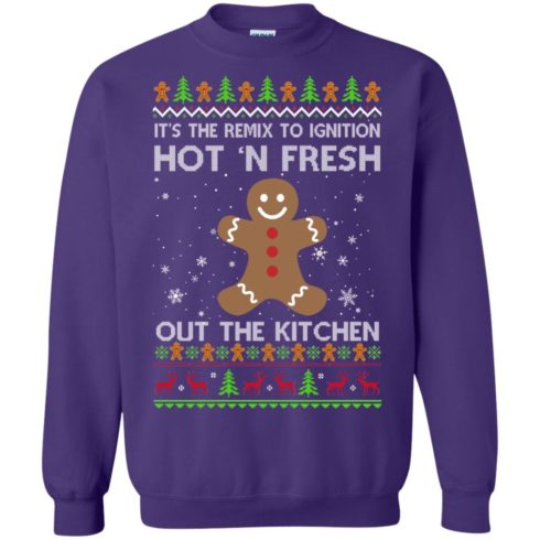 image 743 490x490px It's The Remix To Ignition Hot 'N Fresh Out The Kitchen Christmas Sweater
