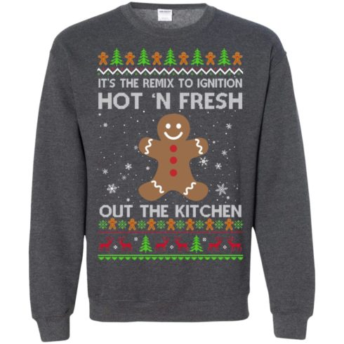 image 744 490x490px It's The Remix To Ignition Hot 'N Fresh Out The Kitchen Christmas Sweater