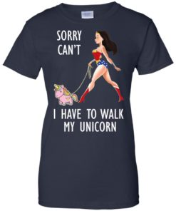 image 75 247x296px Wonder Woman: Sorry Can't I Have Walk My Unicorn T Shirts, Hoodies, Tank