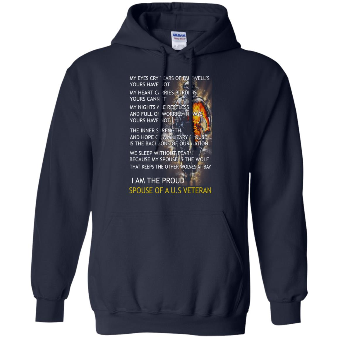 image 771px I am the proud spouse of a U.S Veteran, my eyes cry tears of farewell's t shirt