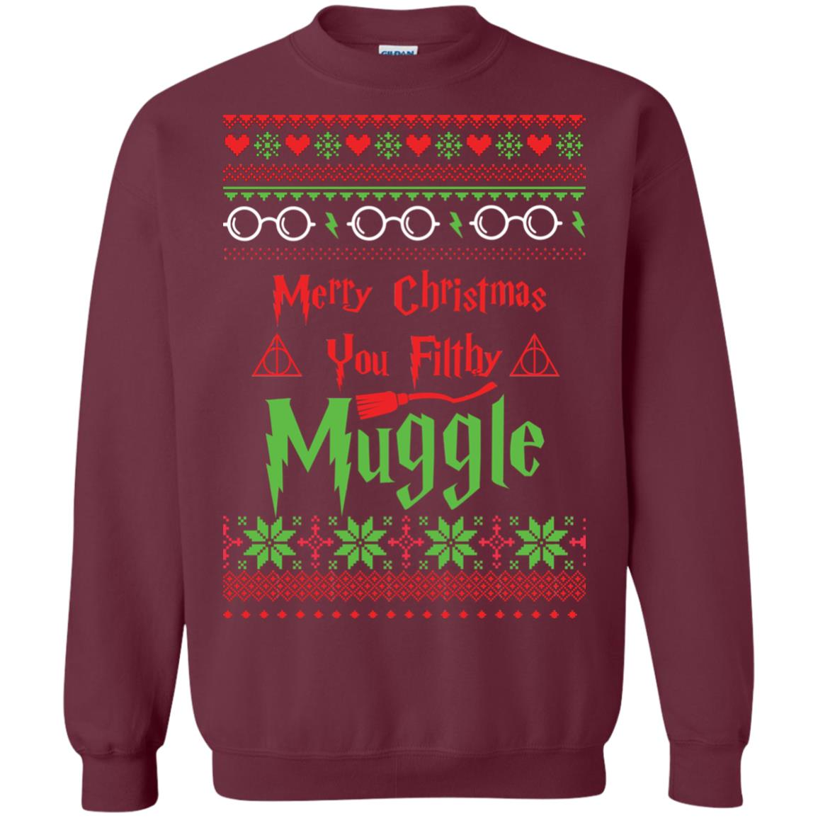image 777px Merry Christmas You Filthy Muggle Harry Potter Christmas Sweater