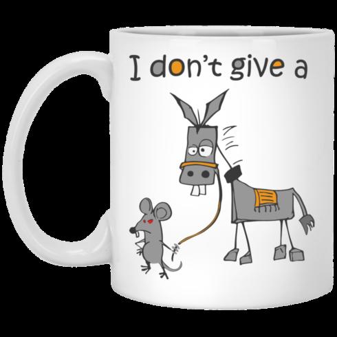 image 8 490x490px I don't give a mouse walking a donkey coffee mug