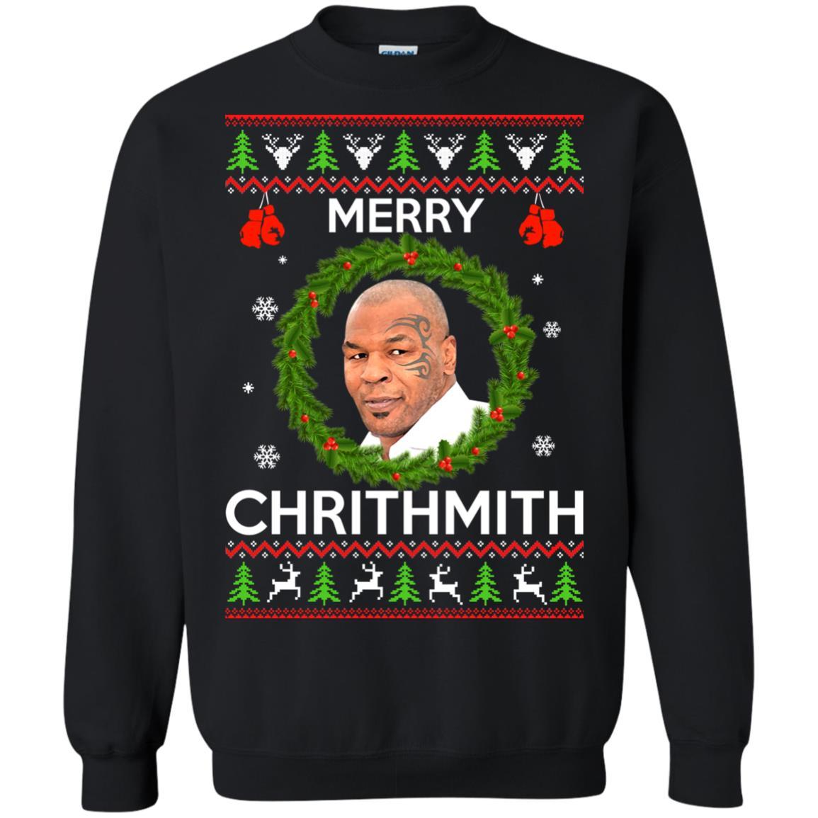 image 841px Mike Tyson Christmas Sweater Merry Chrithmith Sweatshirt