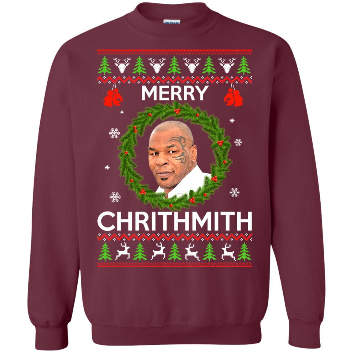 image 842px Mike Tyson Christmas Sweater Merry Chrithmith Sweatshirt