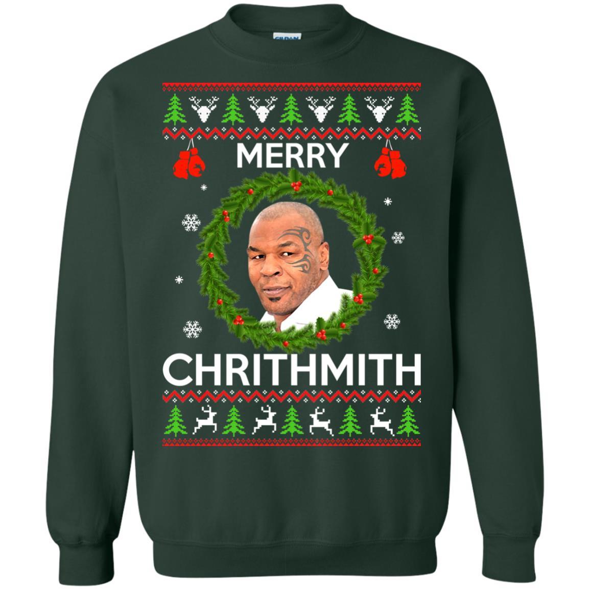 image 844px Mike Tyson Christmas Sweater Merry Chrithmith Sweatshirt