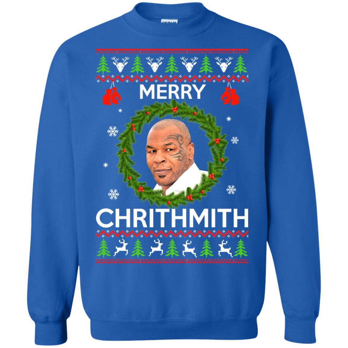 image 845px Mike Tyson Christmas Sweater Merry Chrithmith Sweatshirt