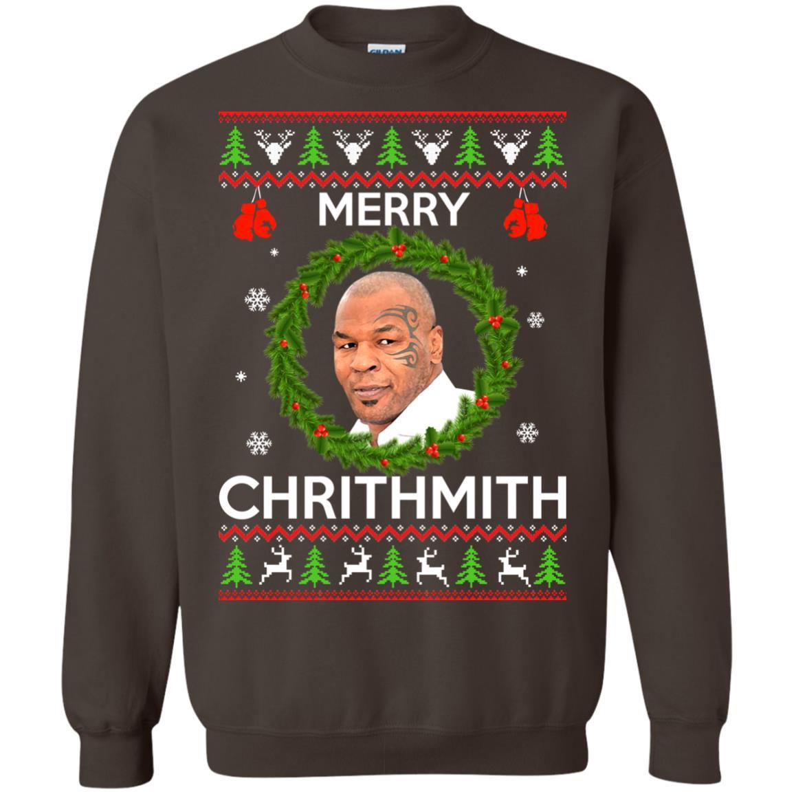 image 846px Mike Tyson Christmas Sweater Merry Chrithmith Sweatshirt