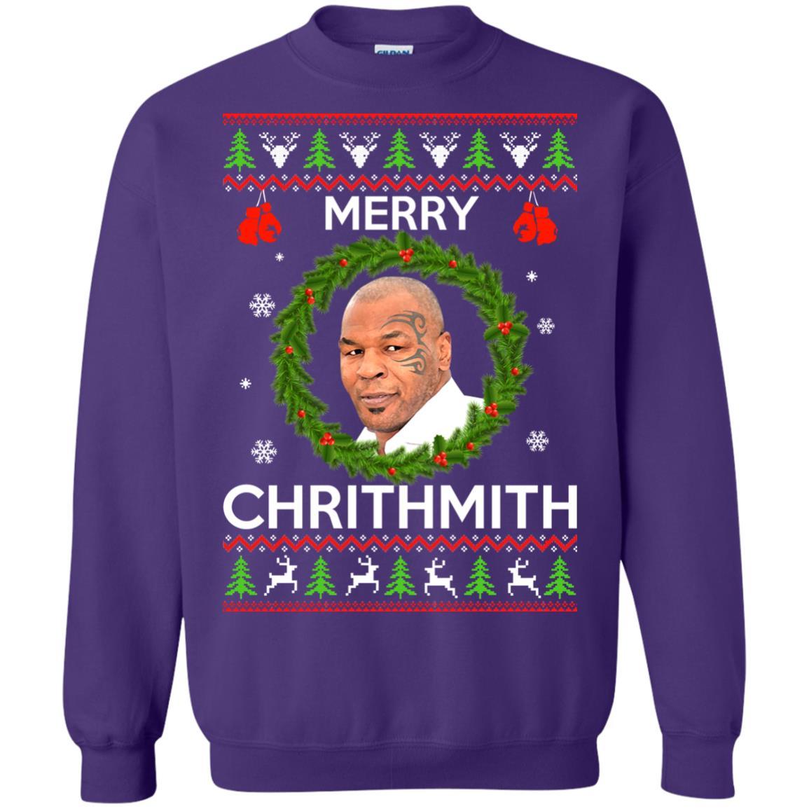 image 847px Mike Tyson Christmas Sweater Merry Chrithmith Sweatshirt