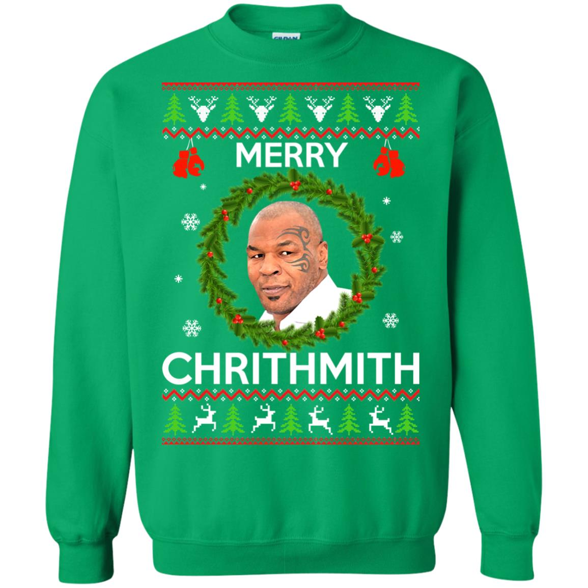 Mike Tyson Christmas Meme.Mike Tyson Christmas Sweater Merry Chrithmith Sweatshirt