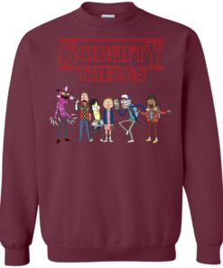 image 858 247x296px Schwifty Things Stranger Things ft Rick and Morty Sweater