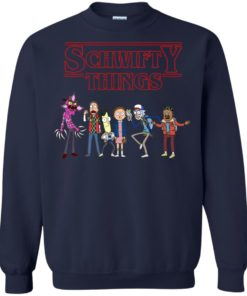 image 859 247x296px Schwifty Things Stranger Things ft Rick and Morty Sweater