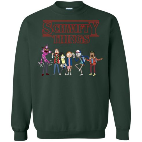 image 860 490x490px Schwifty Things Stranger Things ft Rick and Morty Sweater